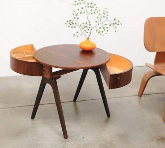 modelos de mesas de centro de madera con gavetas
