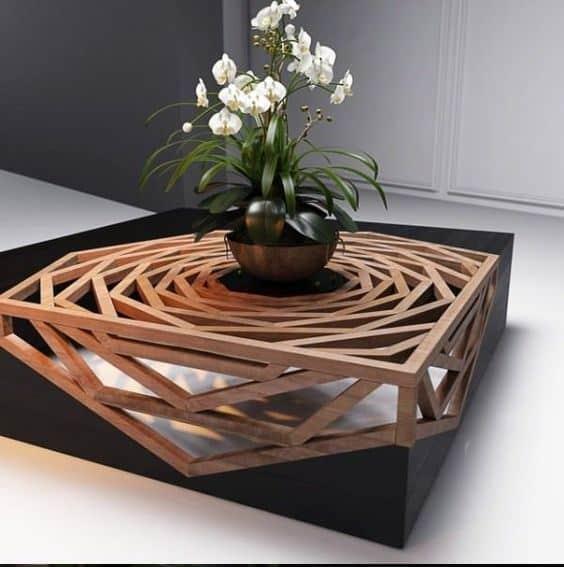 singulares modelos de mesas de centro de madera centros