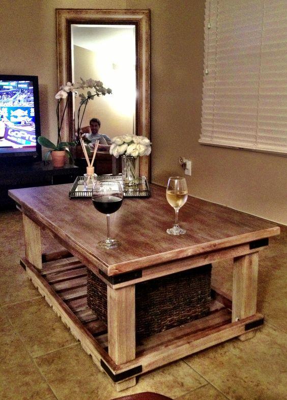 modelos de mesas de centro de madera rustica