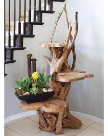 troncos de arboles para decorar con flores