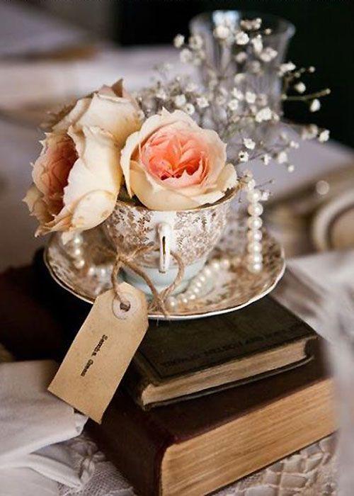 adornos de mesa para xv años vintage