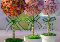 Hermosos y divertidos centros de mesa con gomitas
