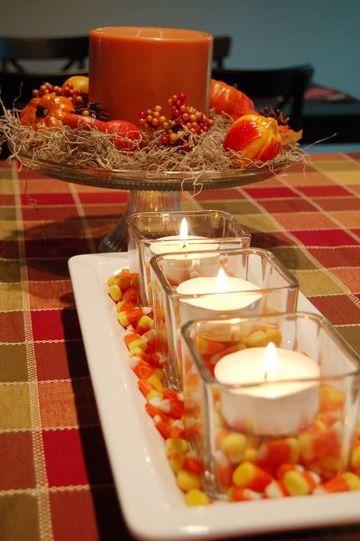 imagenes de arreglos de mesa con velas