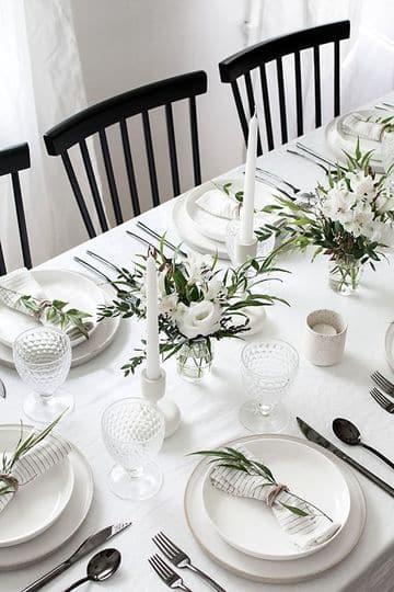imagenes de arreglos de mesa para cena