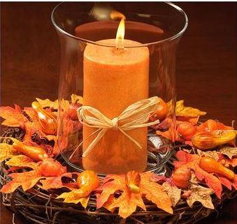 imagenes de arreglos de mesa para otoño