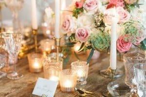 Diseños hermosos e imagenes de arreglos de mesa