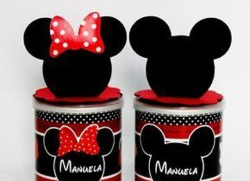 latas decoradas para niños de mickey mouse
