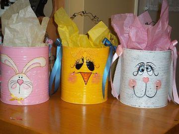 latas decoradas para niños para cotillones