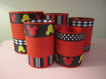 latas decoradas para niños para fiestas