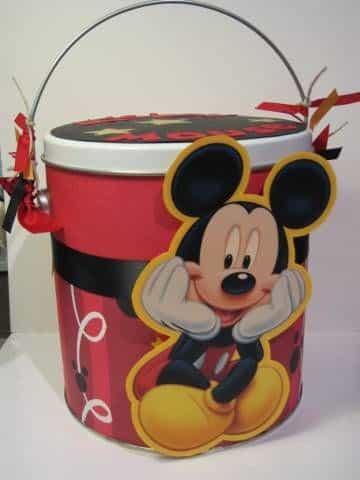 latas decoradas para souvenir de mickey mouse