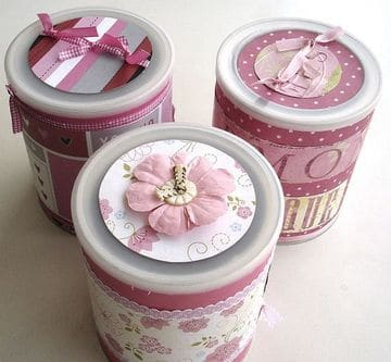latas decoradas para souvenir femeninas