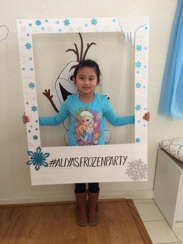 marcos de frozen para fiestas faciles de hacer