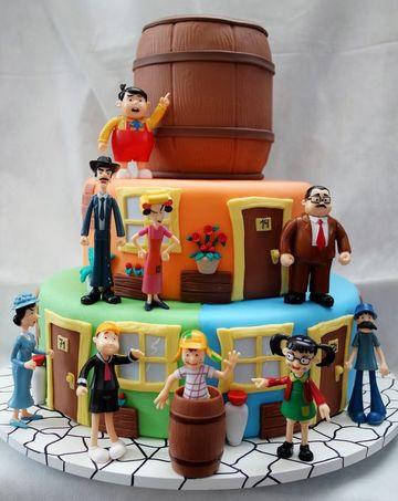 pasteles del chavo del ocho con los personajes