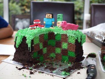 tortas de cumpleaños de minecraft creeper