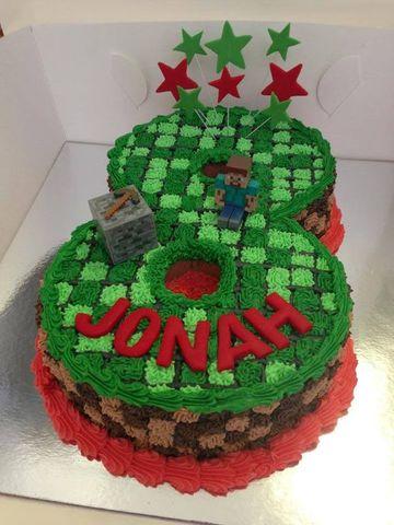 tortas de cumpleaños de minecraft numero 8