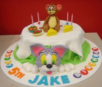 tortas de tom y jerry para cumpleaños de niño