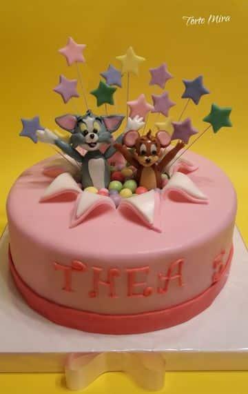 tortas de tom y jerry para niña