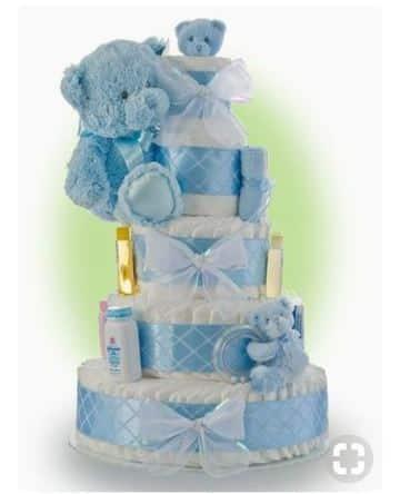 arreglos de ositos para baby shower con pañales