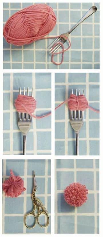como se hacen los pompones de lana faciles