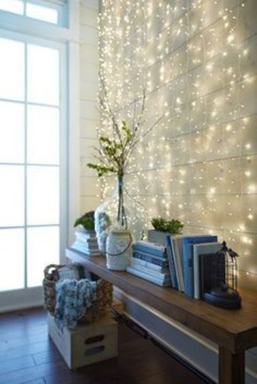 cortinas de luces navideñas para decorar la sala