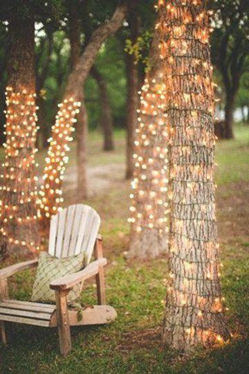 decoracion con luces navideñas para exteriores