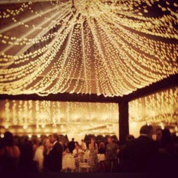 decoracion con luces navideñas para fiestas