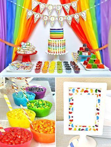 decoracion de colores para cumpleaños jelly bean