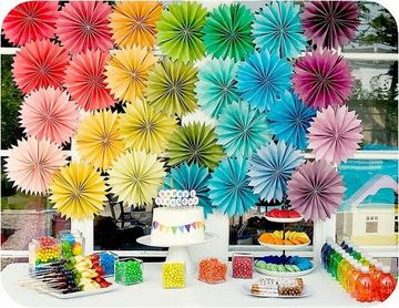 decoracion de colores para cumpleaños mujer