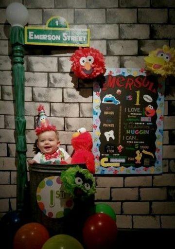 decoracion de elmo para fiestas infantiles para 1er año