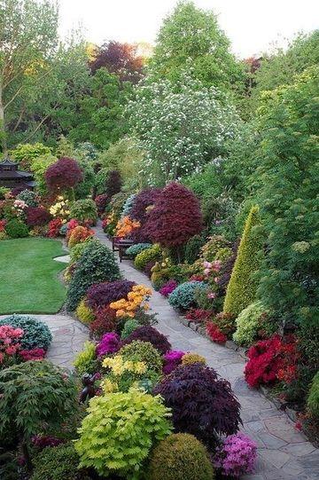 decoracion de jardines grandes y bonitos