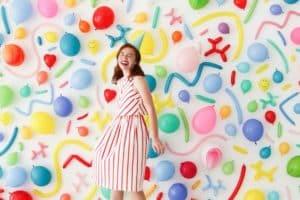 Originales ideas en decoracion de pared con globos