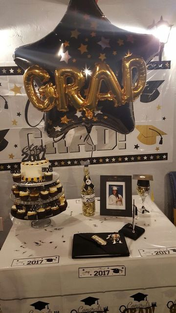 mesa de dulces de graduacion en casa