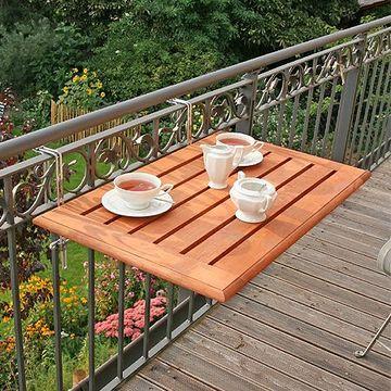 mesas de madera para terraza portatil