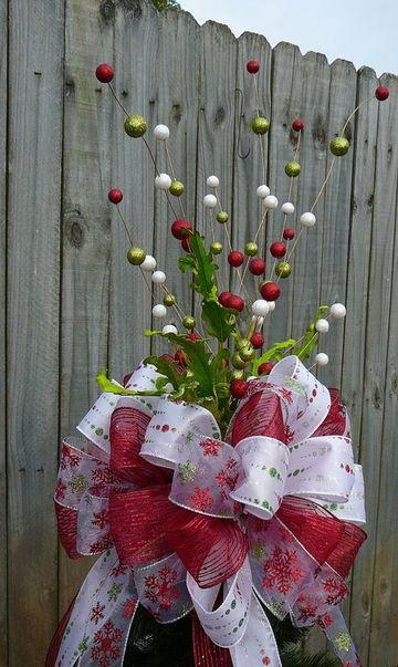 moños navideños para arbol grandes