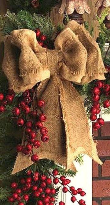 moños navideños para arbol y guirnaldas