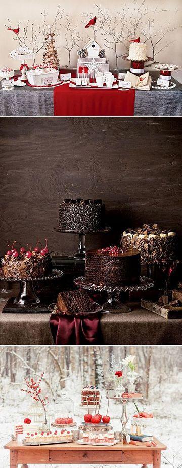 que poner en una mesa de dulces de invierno