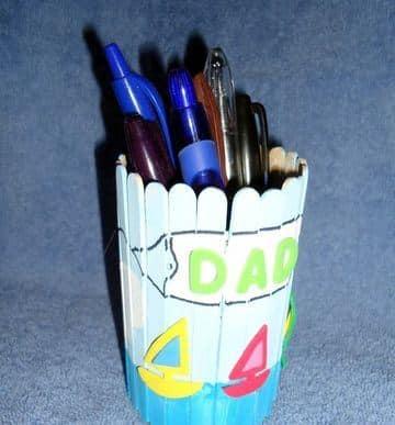 regalos para papa con material reciclado hecho en la escuela