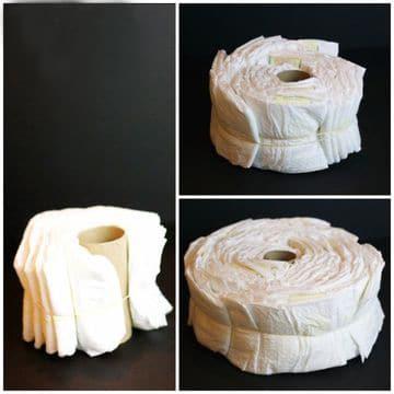 torta de pañales paso a paso y sencilla
