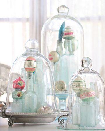 adornos para mesa de comedor de vidrio con campanas