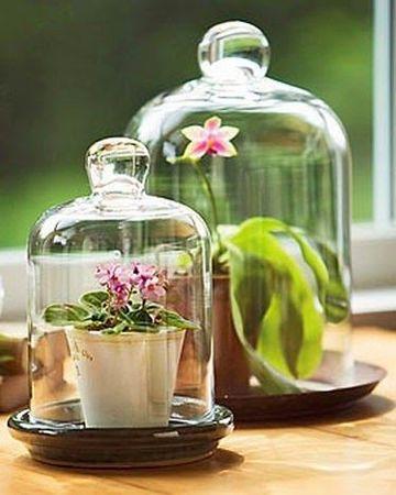 adornos para mesa de comedor de vidrio rusticos