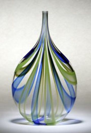 floreros de vidrio soplado elegantes