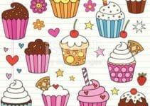 Decoraciones con imagenes de cupcakes para dibujar