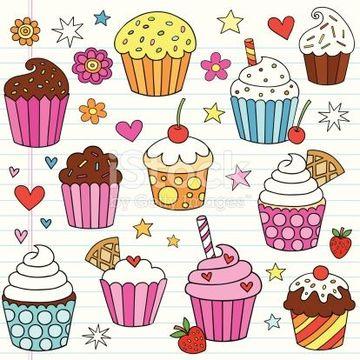 imagenes de cupcakes para dibujar para imprimir