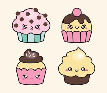 imagenes de cupcakes para dibujar sencillos