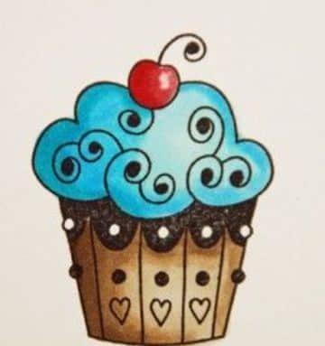imagenes de cupcakes para dibujar y colorear