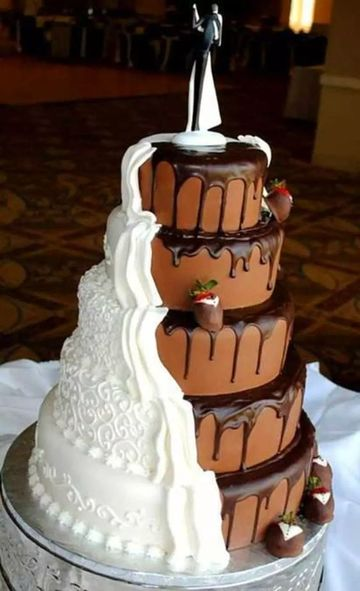 imagenes de tortas de matrimonio creativas