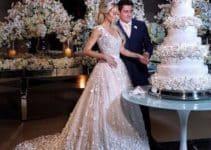Diseños mostrados en imagenes de tortas de matrimonio