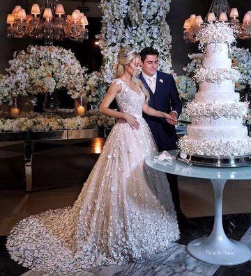 imagenes de tortas de matrimonio elegantes