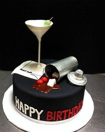 pasteles fondant para hombres de bar