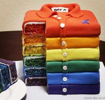 pasteles fondant para hombres de camisas polo
